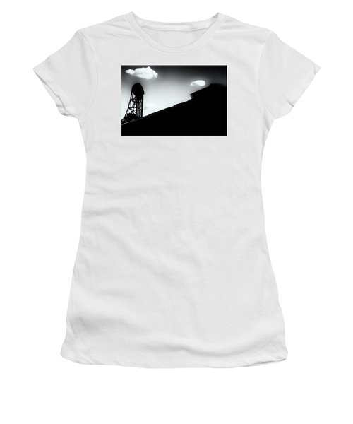Broadway Bridge Abstract 1 Monochrome Women's T-Shirt (Athletic Fit)