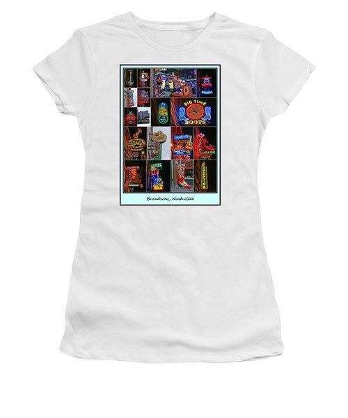 Broadway, Nashville - Collage # 2 Women's T-Shirt