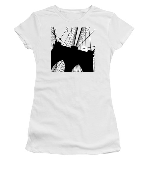 Brooklyn Bridge Architectural View Women's T-Shirt (Athletic Fit)