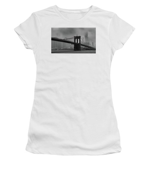 Brooklyn Bridge In A Storm 2 Women's T-Shirt