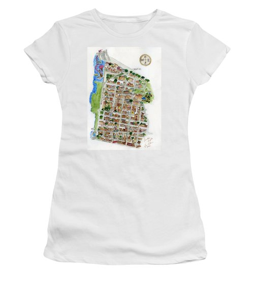 Brooklyn Heights Map Women's T-Shirt (Athletic Fit)
