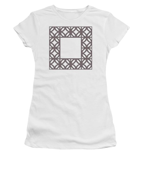Brown Circles And Squares Women's T-Shirt