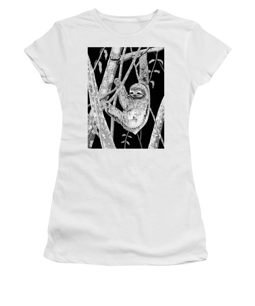 Brown-throated Three-toed Sloth Women's T-Shirt (Athletic Fit)
