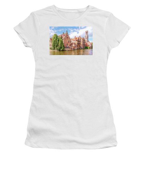 Bruges Canal Belgium Dwp-2611575 Women's T-Shirt