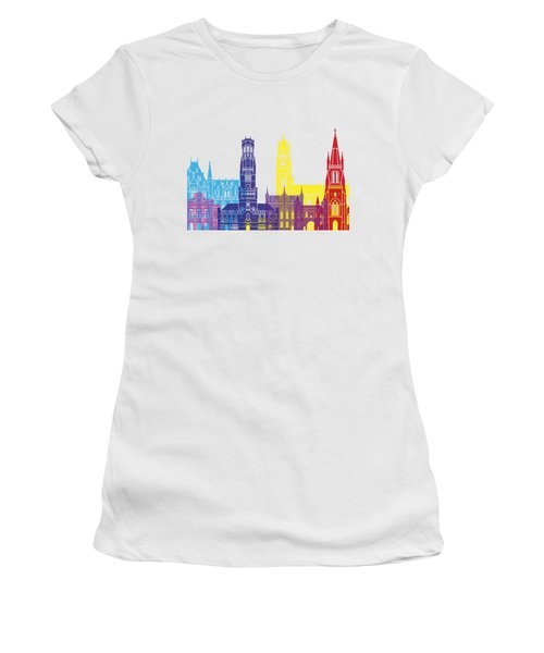 Bruges Skyline Pop Women's T-Shirt