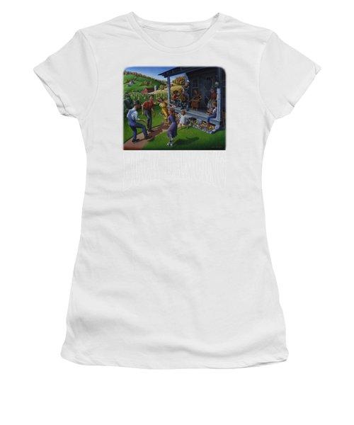 Buck Dancing T Shirt - Mountain Dancing - Porch Music Women's T-Shirt