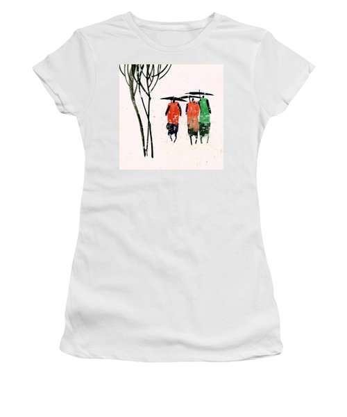 Buddies 3 Women's T-Shirt (Junior Cut) by Anil Nene