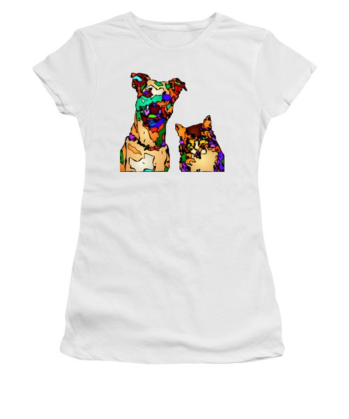 Buddies For Life. Pet Series Women's T-Shirt