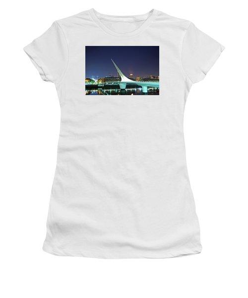Buenos Aires - Argentina - Puente De La Mujer At Night Women's T-Shirt