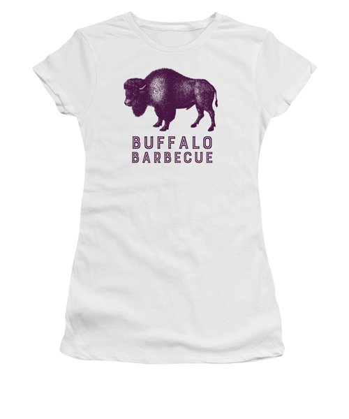 Buffalo Barbecue Women's T-Shirt (Junior Cut) by Antique Images