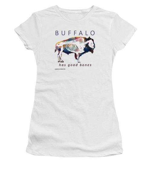 Buffalo Has Good Bones Women's T-Shirt (Athletic Fit)