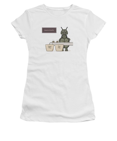 Bug As A Inspector Of Quality Women's T-Shirt (Athletic Fit)
