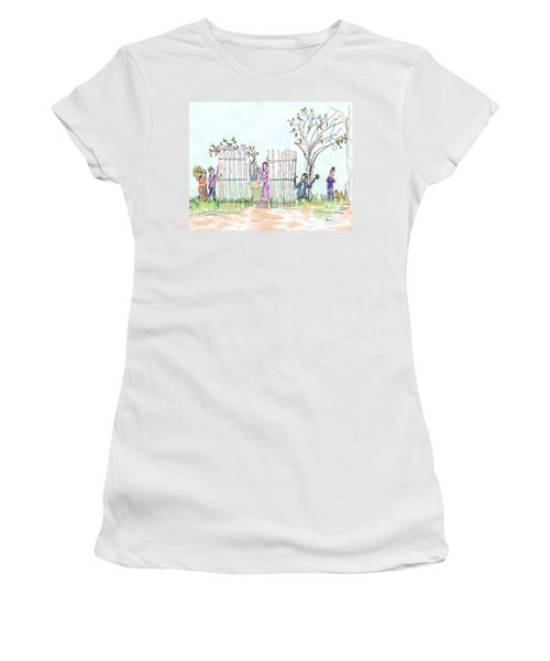 Building The Sukkot Women's T-Shirt (Athletic Fit)