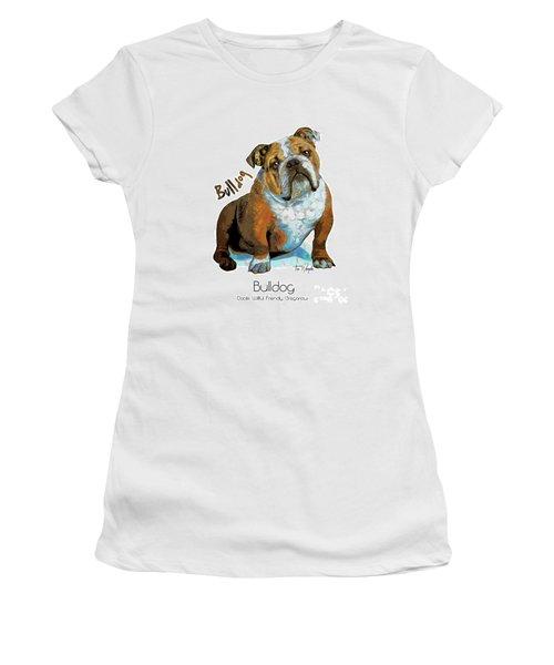 Bulldog Pop Art Women's T-Shirt