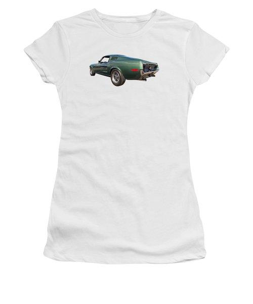 Bullitt - 1968 Mustang Fastback Women's T-Shirt (Junior Cut) by Gill Billington