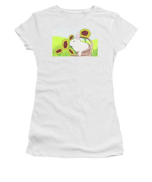 Bunny In A Basket Women's T-Shirt