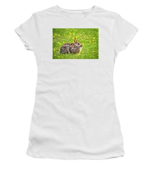 Bunny Rabbit Women's T-Shirt (Athletic Fit)