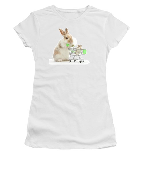 Bunny Shopping Women's T-Shirt (Athletic Fit)