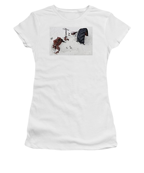 Buried Up To The Wheels Women's T-Shirt (Junior Cut) by Stephen Mitchell