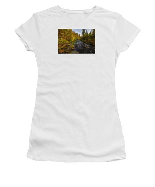 Burney Falls Hdr Women's T-Shirt (Athletic Fit)