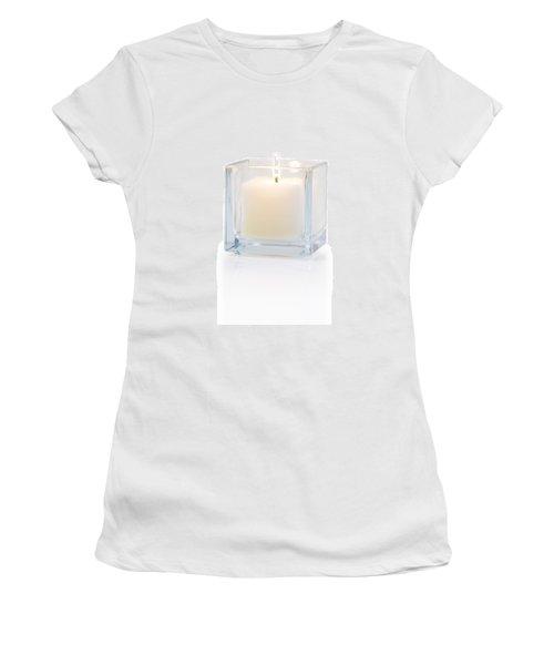 Burning Candle Side View 20 Degree Women's T-Shirt (Junior Cut) by Atiketta Sangasaeng