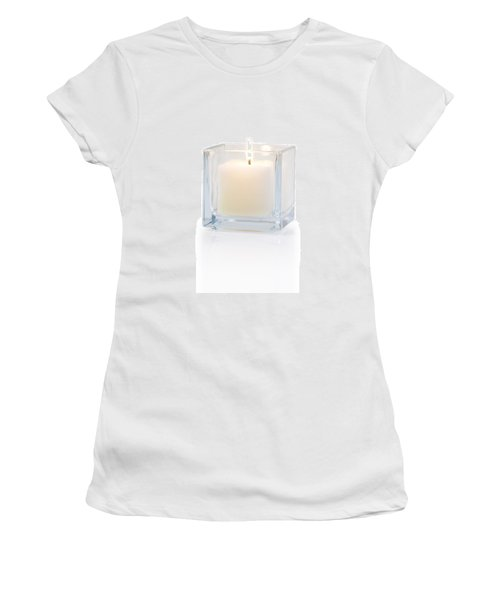 Burning Candle Side View 20 Degree Women's T-Shirt (Athletic Fit)