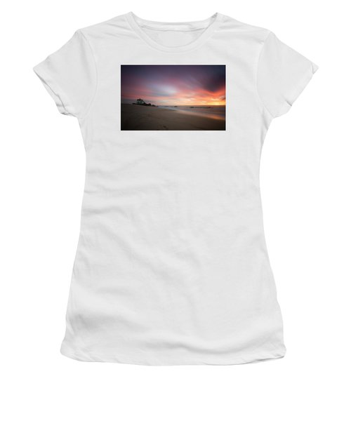 Women's T-Shirt featuring the photograph Burning Sky by Bruno Rosa