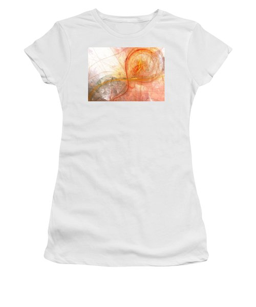 Burning Treble Clef Women's T-Shirt (Athletic Fit)