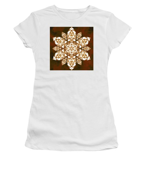 Women's T-Shirt (Athletic Fit) featuring the digital art Burnt Geomatrix by Derek Gedney