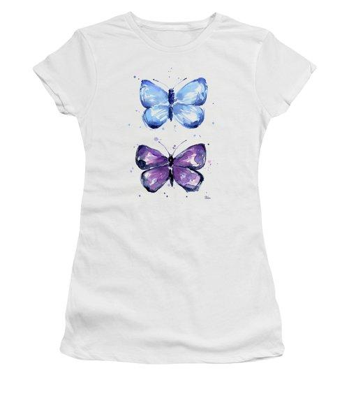 Butterflies Blue And Purple  Women's T-Shirt