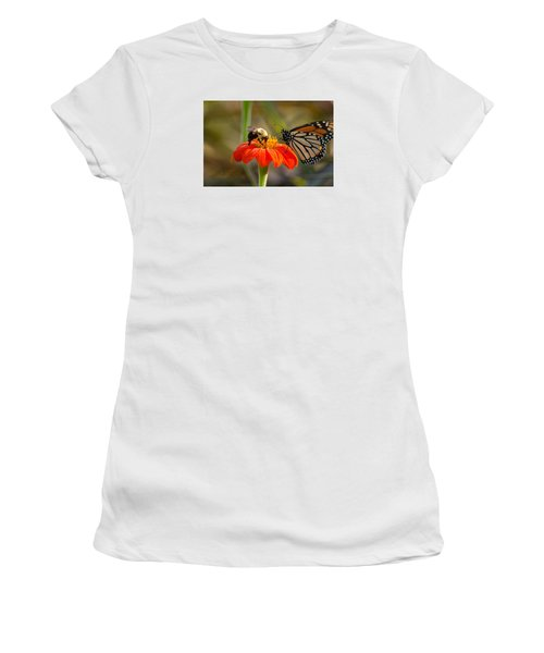Butterfly And Bumble Bee Women's T-Shirt