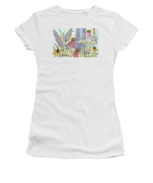 Butterfly Bush In Garden Women's T-Shirt
