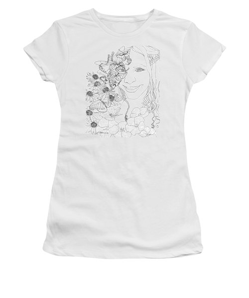 Butterfly Runner Women's T-Shirt (Athletic Fit)