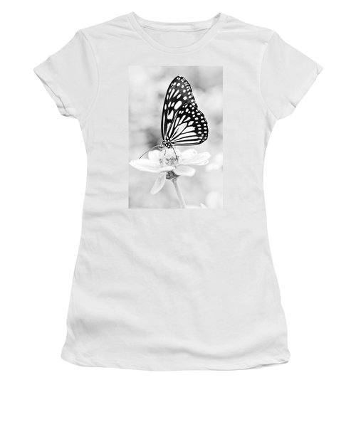 Butterfly Wings 7 - Black And White Women's T-Shirt (Athletic Fit)