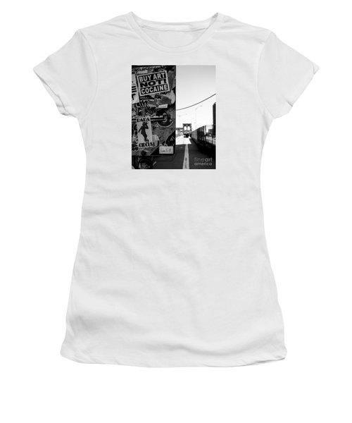 Buy Art Not Cocaine Women's T-Shirt (Athletic Fit)