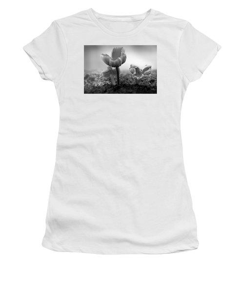Bw Mushroom - 365- 232 Women's T-Shirt (Junior Cut) by Inge Riis McDonald