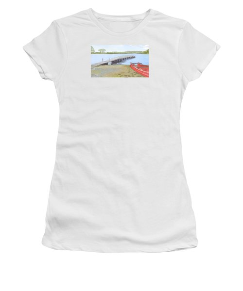 By The Lake Women's T-Shirt (Junior Cut) by Joanne Perkins