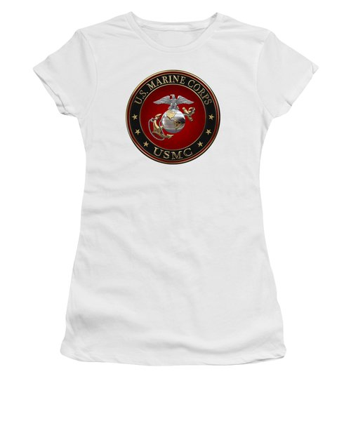 C O And Warrant Officer E G A Special Edition Over White Leather Women's T-Shirt