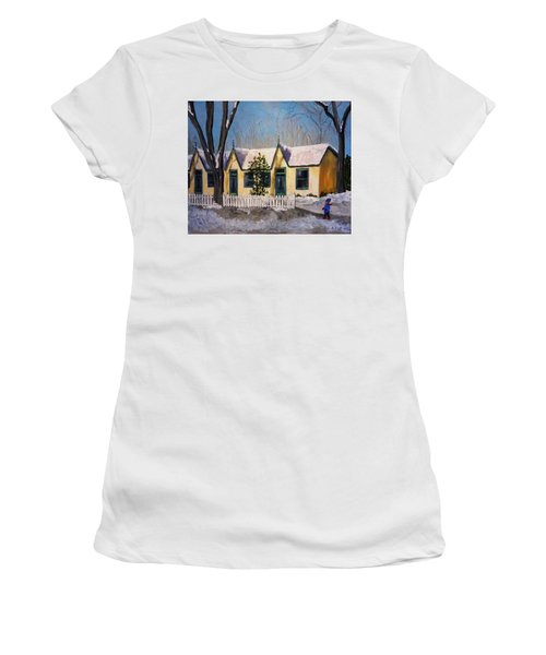 Cabbagetown Christmas Women's T-Shirt (Athletic Fit)
