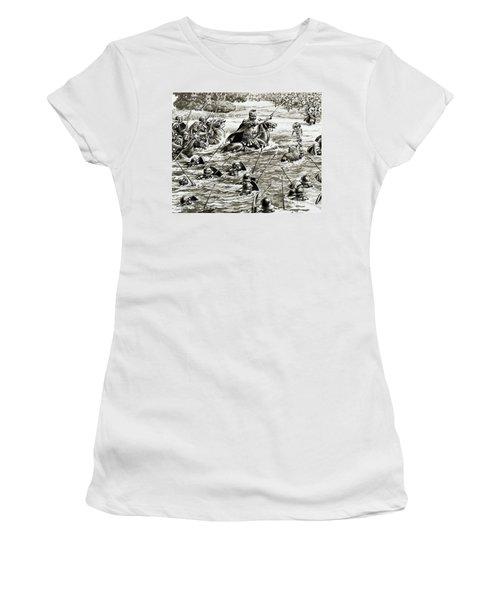 Caesar's Legions Crossing The Thames Women's T-Shirt