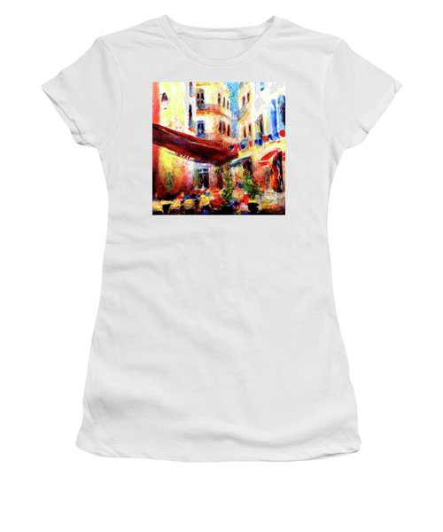 Cafe Scene Women's T-Shirt (Athletic Fit)