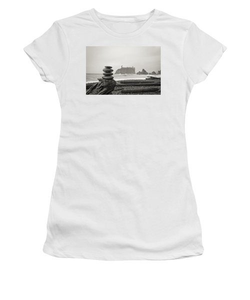 Cairn On A Beach Women's T-Shirt (Athletic Fit)