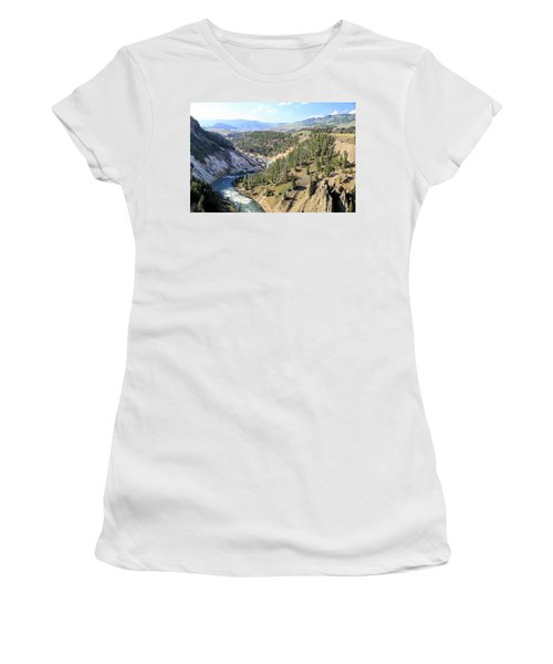 Calcite Springs Along The Bank Of The Yellowstone River Women's T-Shirt