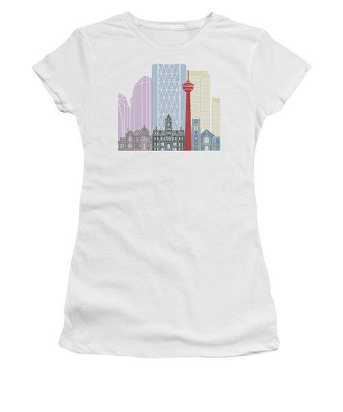 Calgary Skyline Poster Women's T-Shirt