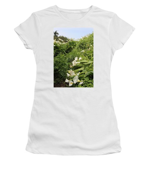 Women's T-Shirt (Junior Cut) featuring the photograph Cali Can You Hear Me by Marie Neder
