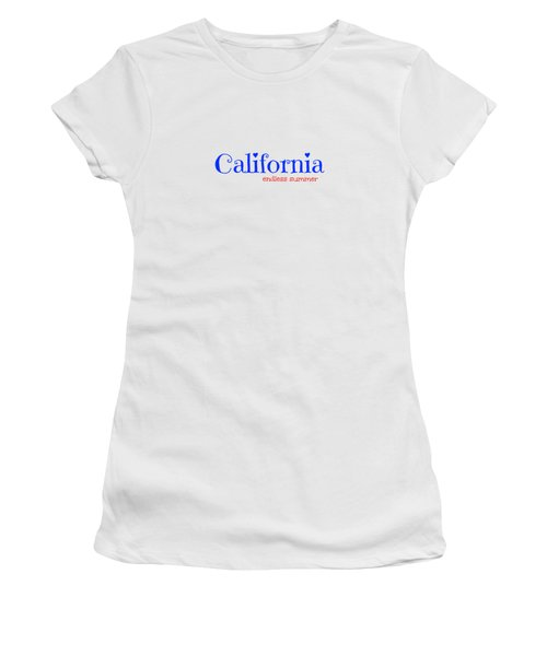 California Endless Summer Women's T-Shirt (Athletic Fit)