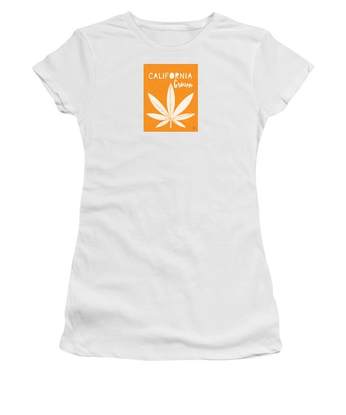 Women's T-Shirt featuring the digital art California Grown Cannabis Orange- Art By Linda Woods by Linda Woods