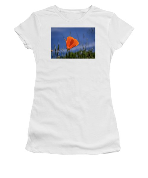 California Poppy Women's T-Shirt (Junior Cut) by Marc Crumpler