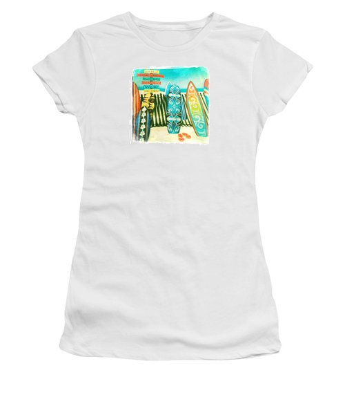 California Surfboards Women's T-Shirt (Athletic Fit)