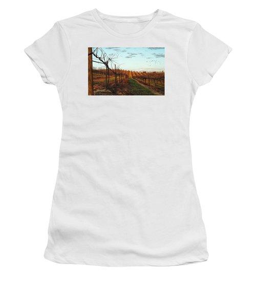 California Vineyard In Winter Women's T-Shirt